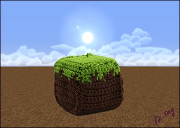 Cube-Terre-Minecraft-Crochet-Di-Day