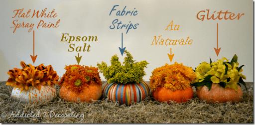 floreros miniatura de calabaza 3