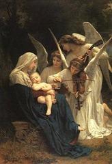 Menino Jesus e os Anjos tocando música