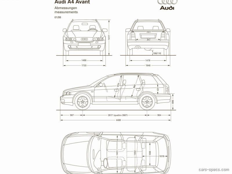 1998 Audi A4 Wagon Specifications, Pictures, Prices