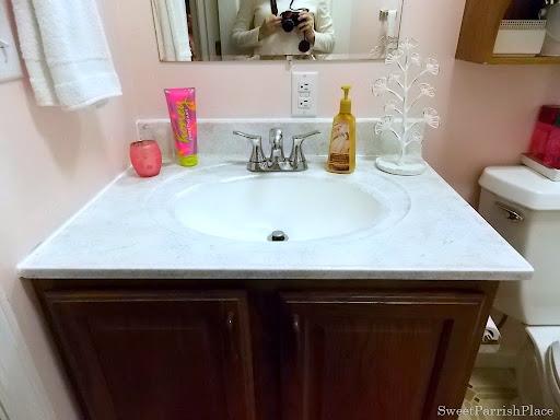 Bathroom sink Makeover with Giani Granite Kit  Sweet