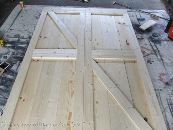 diy make your own faux barn doors