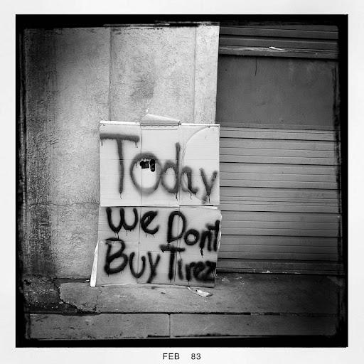 Today we Don't Buy Tirez