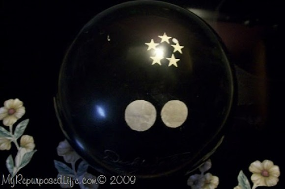 gazing ball bowling ball