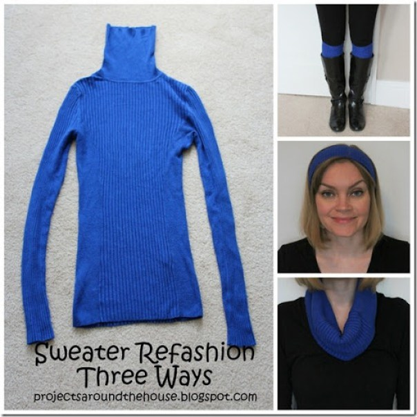 Sweater refashion three ways