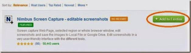 add on mozilla untuk mengambil screenshot