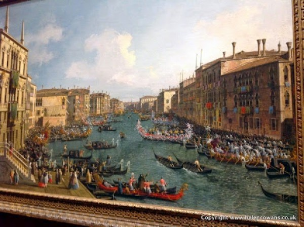 Caneletto  Vencie A regatta on the grand canal  1740  full