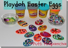 playdough easter eggs