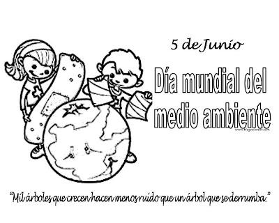 Dia Mundial Del Medio Ambiente Dibujos Para Colorear 5 De Junio Día