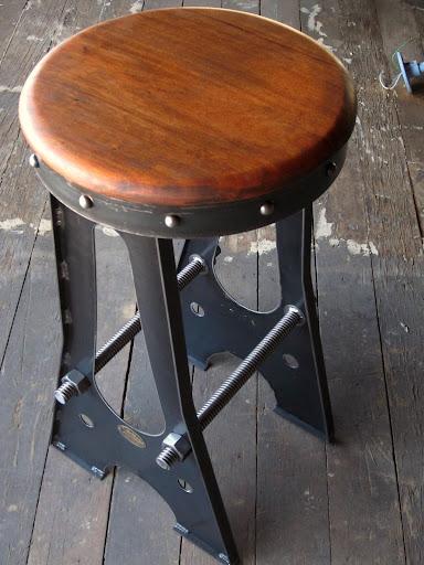 Vintage Industrial Bar Stool  Chair Designs  Vintage