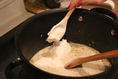 Sour Cream into White Chicken Chili