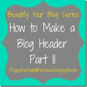 how to make a blog header II