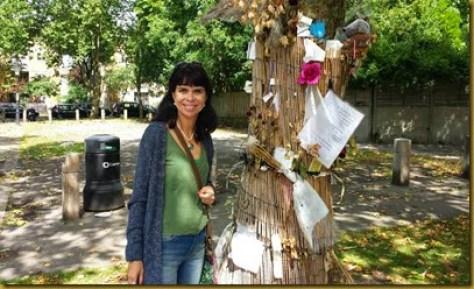 em frente à casa de Amy Winehouse, Camden Town, Londres