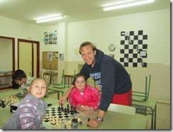 Ajedrez a la Escuela Juan Ramón Alegre