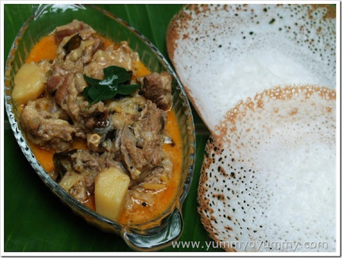Mutton curry with coconut milk