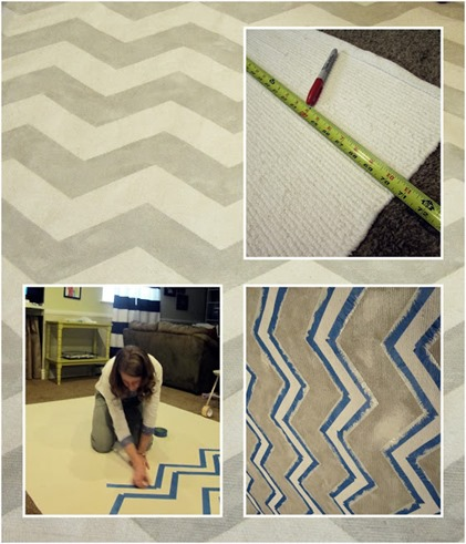 how to paint a Chevron_Rug