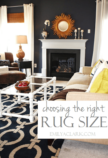 how to choose rug size for living room leather furniture the right emily a clark your