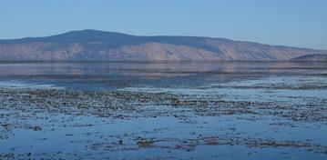 looking toward the east side of Klamath Lake from Pelican Bay
