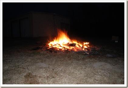 pre-christmas bonfire