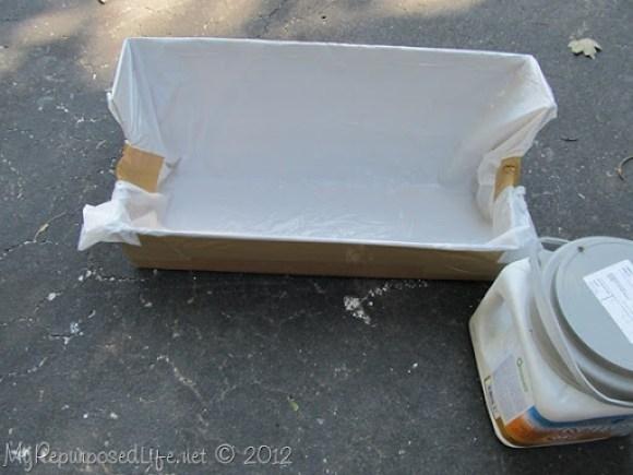 DIY paint trough