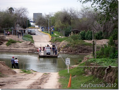 Hand-pulled Los Ebanos Ferry on the Rio Grande River, Texas