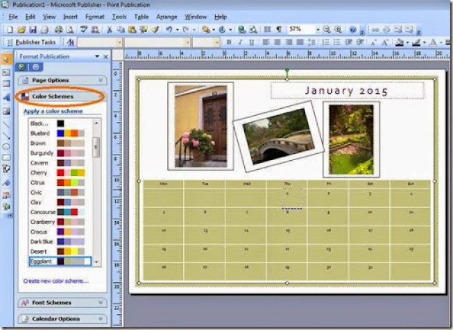 desain kalendar dengan mudah dan cepat