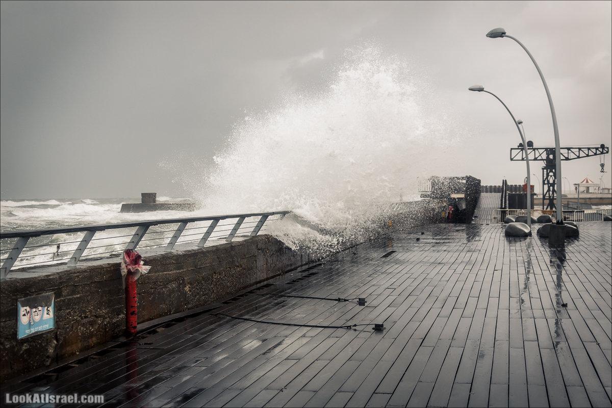 LookAtIsrael.com - Прогулка по дождливому Тель Авиву | Rain in Tel Aviv