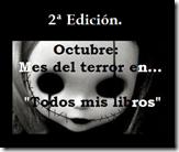 Segunda edición mes del terror.
