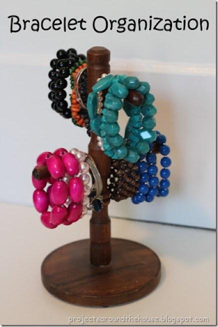 bracelet organization from mug holder
