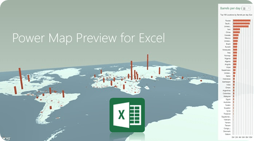 Power Map preview for Excel - new features