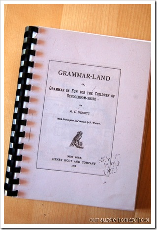 Grammarland ~ Our Aussie Homeschool