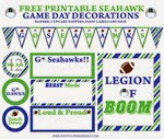 Thrifty Northwest Mom - Seahawks Printables