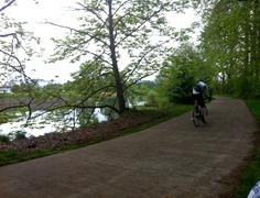 biking on a saturday morning