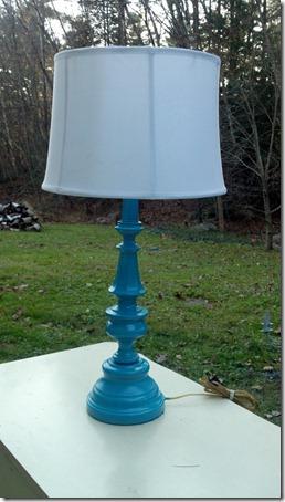 pretty turquoise lamp