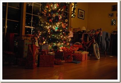 christmas eve tree ready