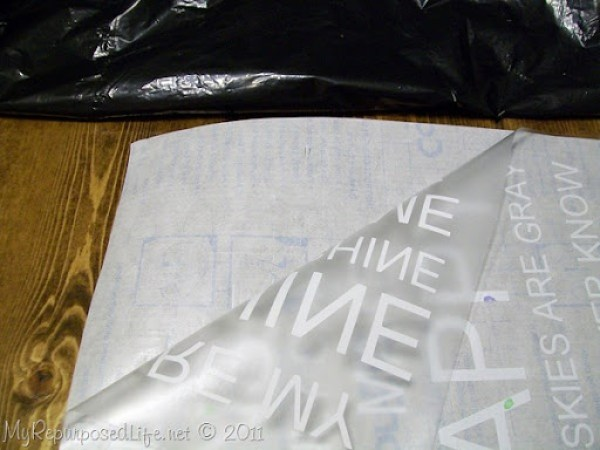 using contact paper as transfer paper