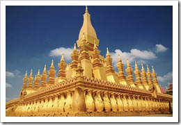 That Luang Golden Stupa