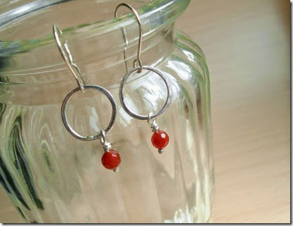 Carnelian Circle Earrings by EmmaRuthJones