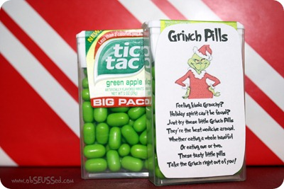 Once i saw these grinch pills on pinterest i had to make them