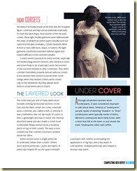 Calico corset spread