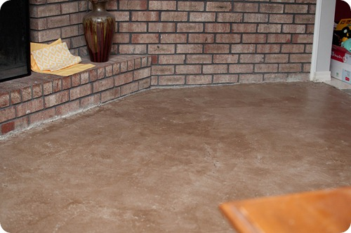DIY Stained Concrete Floors Living Room