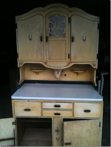 kitchen cabinets for sale craigslist table small vintage restyled: antique hoosier cabinet