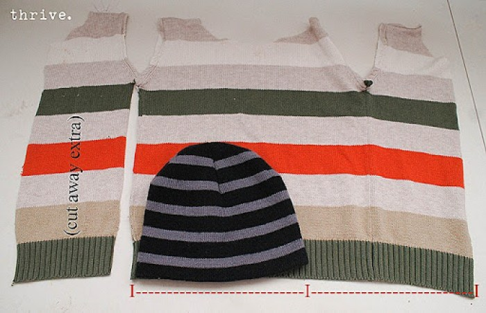 Make mittens & hats out of old sweaters - choosetothrive.blogspot.com
