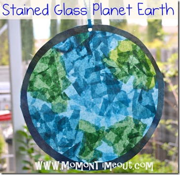 Stained Glass Planted Earth { Mom on Timeout} #EarthDay