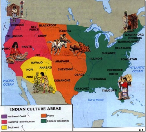 Map North American Iroquois