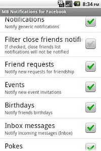MB Notifications for Facebook screenshot 1