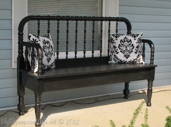 Headboard Bench Made From Bits And Pieces