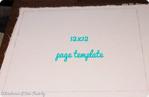12x12 page template for quiet book