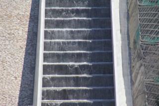 カスケード式洪水吐のアップ