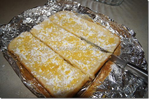 Easy to cut & serve Lemon Bars